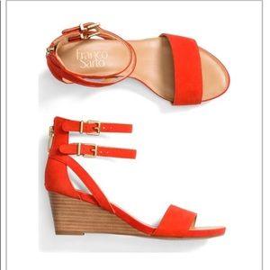 Franco Sarto Danissa leather wedges size 9
